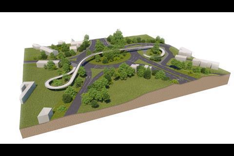 A27 arundel b roundabout footbridge
